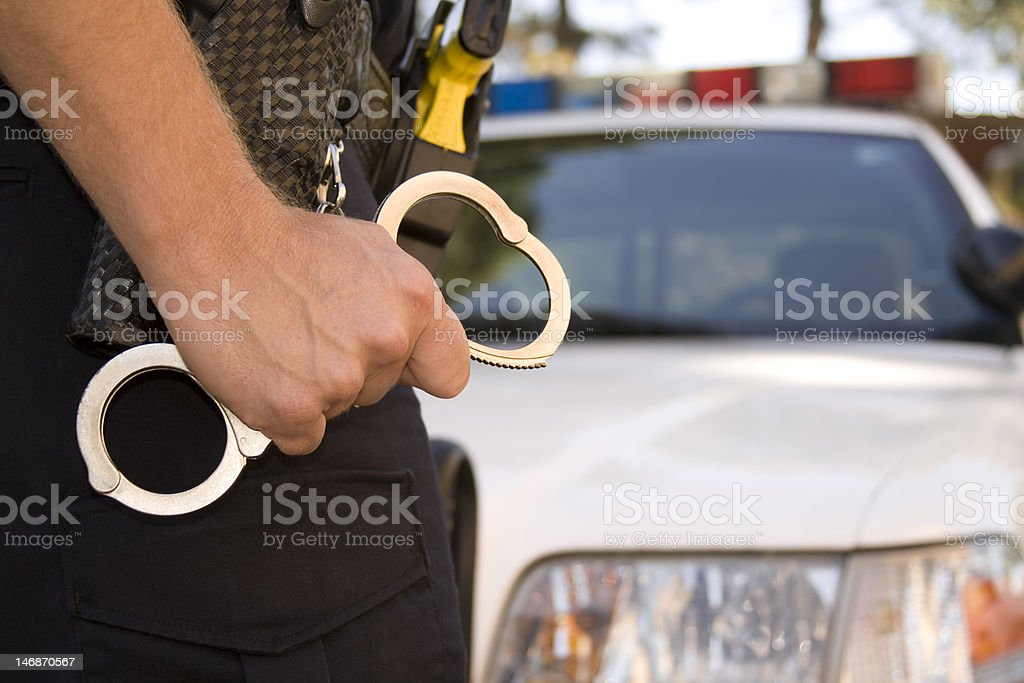 Ready to Handcuff stock photo