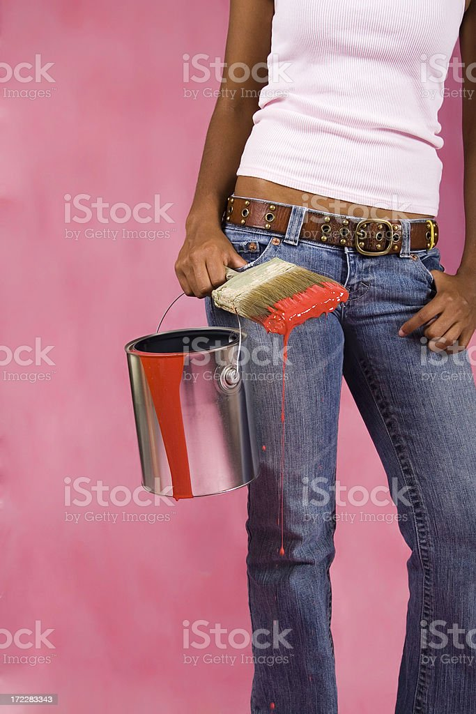 Ready to Help Paint royalty-free stock photo