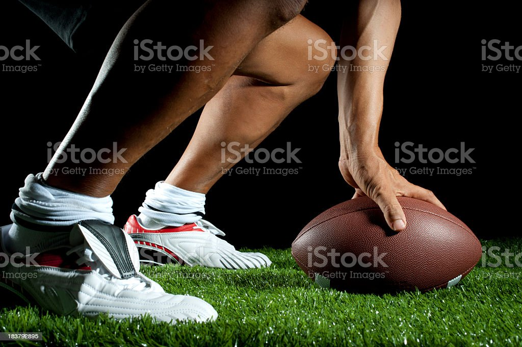 ready to hike a gridiron ball royalty-free stock photo