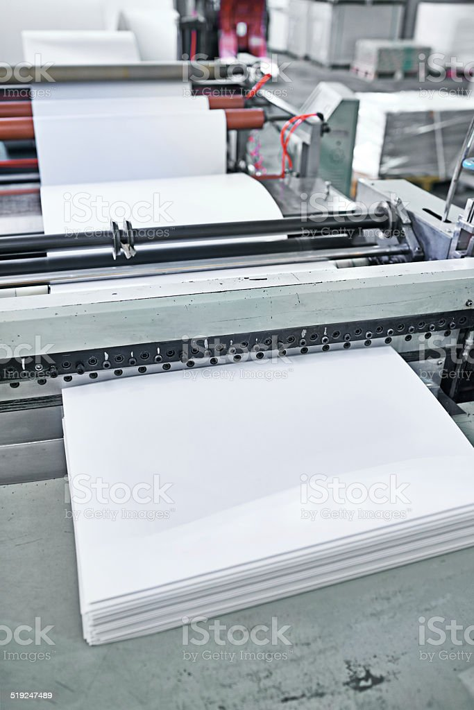 Ready to hit the presses stock photo