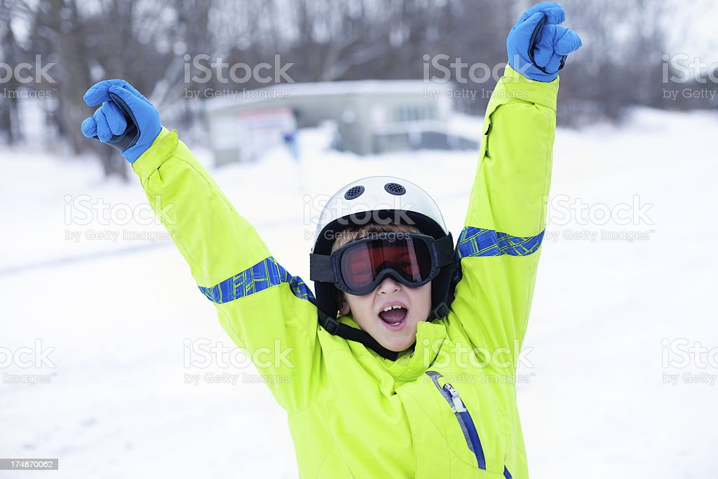 Ready to hit the slopes royalty-free stock photo