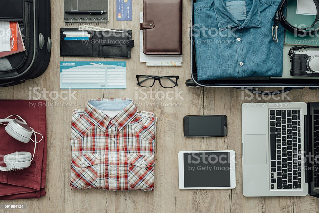 Ready to leave stock photo