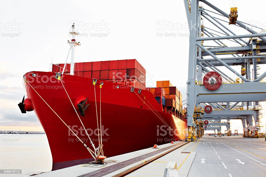 Ready to leave port stock photo
