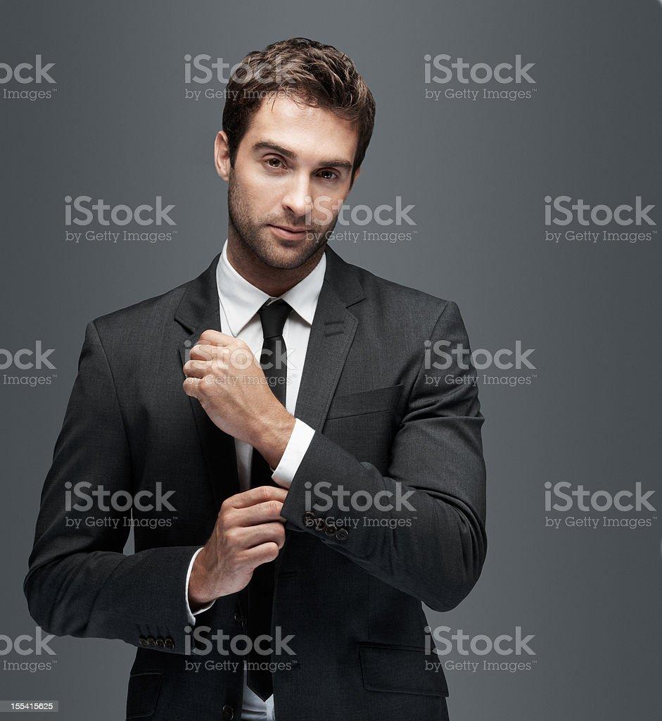 Ready to make an impression stock photo