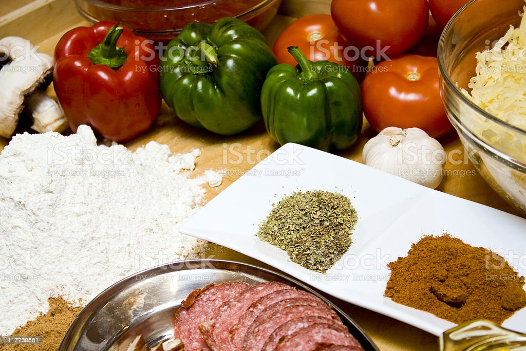 Ready to make pizza royalty-free stock photo