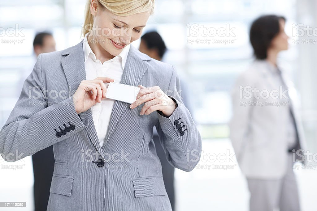 Ready to mingle with clients stock photo