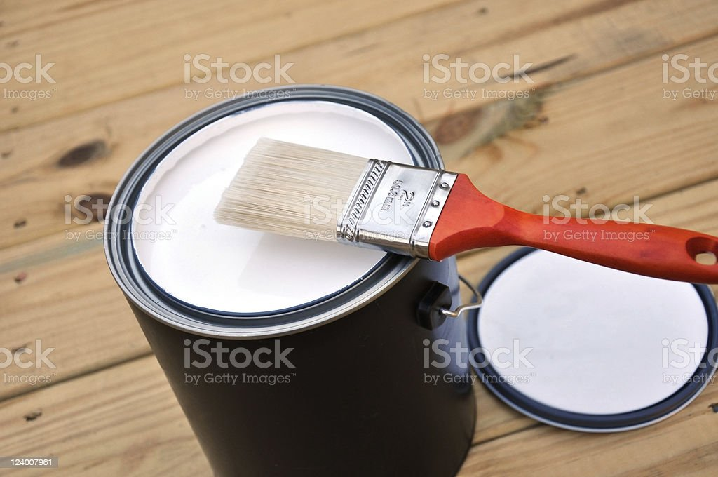 Ready to paint royalty-free stock photo