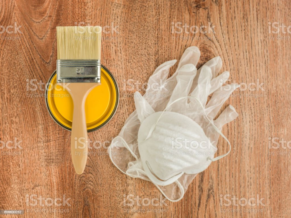 ready to paint yellow stock photo