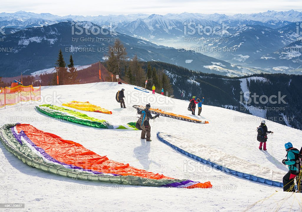 Ready to Paraglide royalty-free stock photo