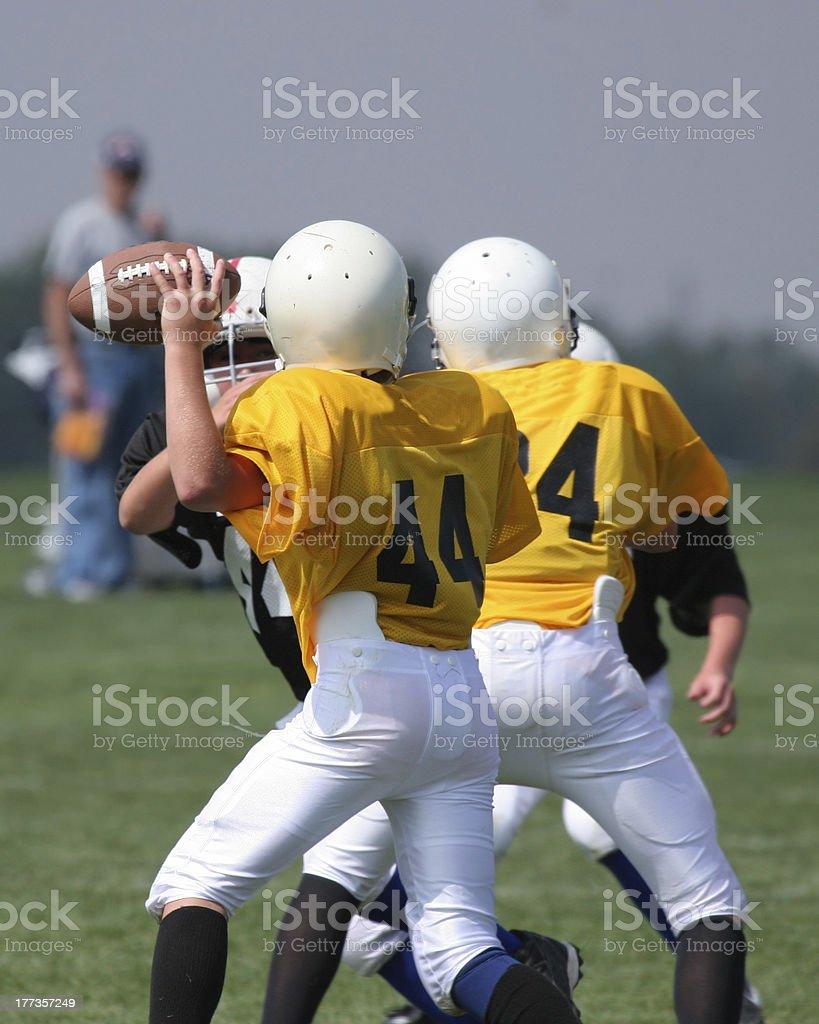 Ready To Pass (American Football) stock photo
