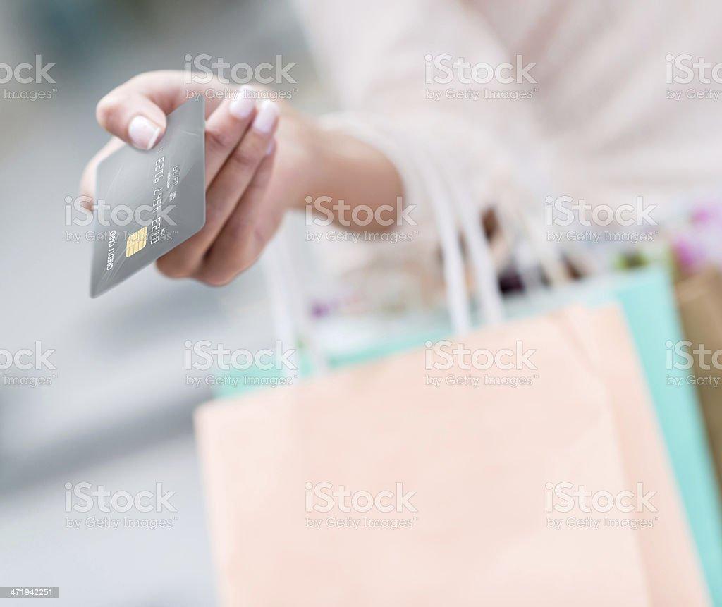 Ready to pay royalty-free stock photo