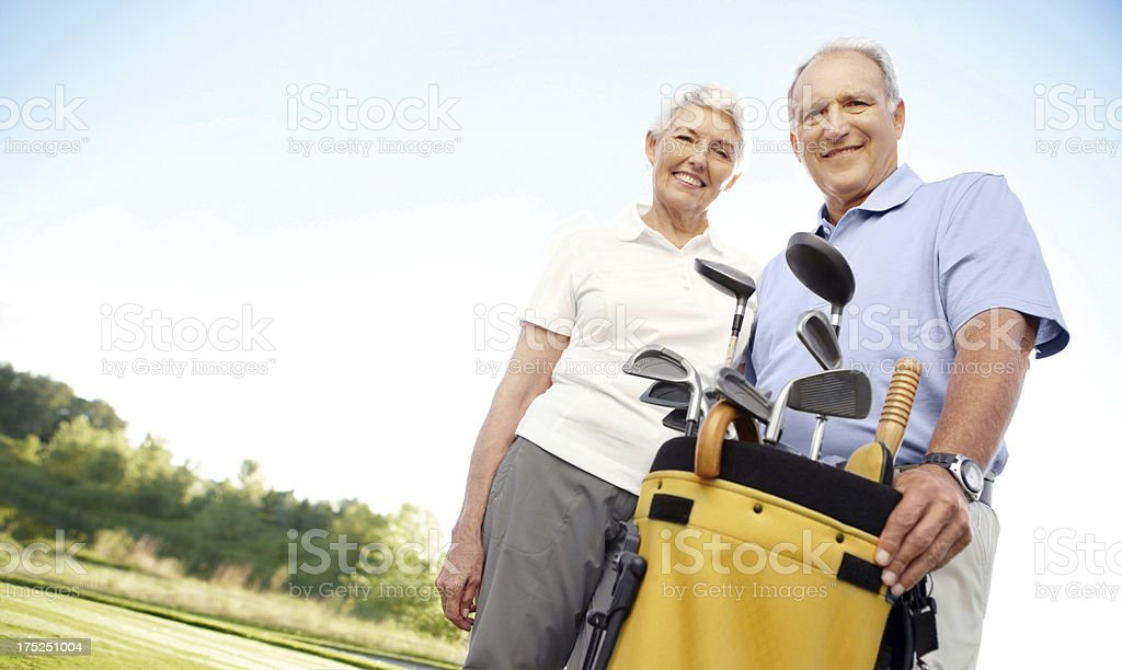 Ready to play a round of golf royalty-free stock photo
