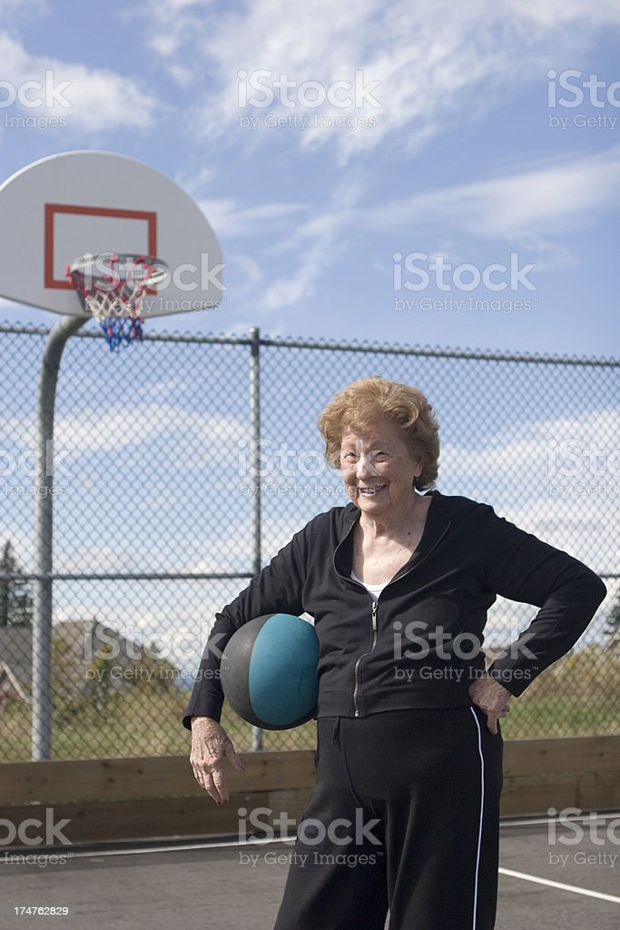 Ready to play ball royalty-free stock photo