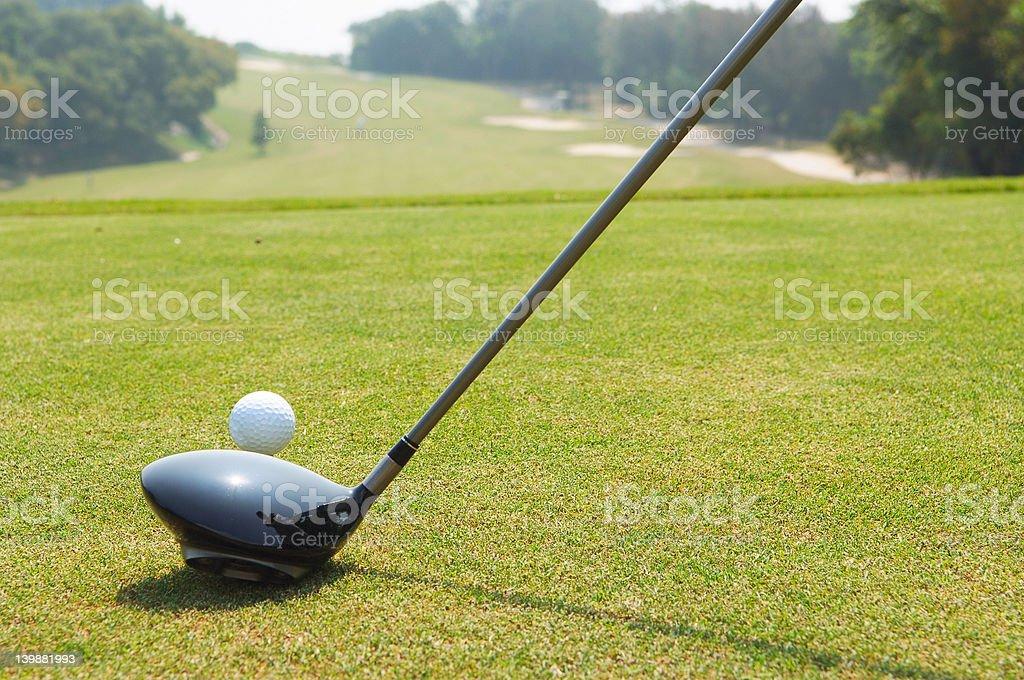 ready to play golf royalty-free stock photo