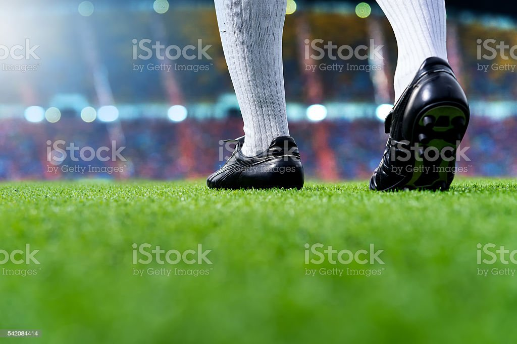 ready to play soccer match stock photo