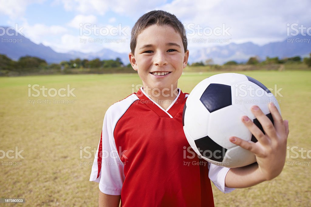 Ready to play some soccer royalty-free stock photo