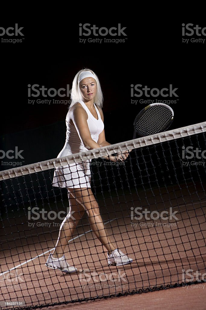 Ready to play tennis royalty-free stock photo