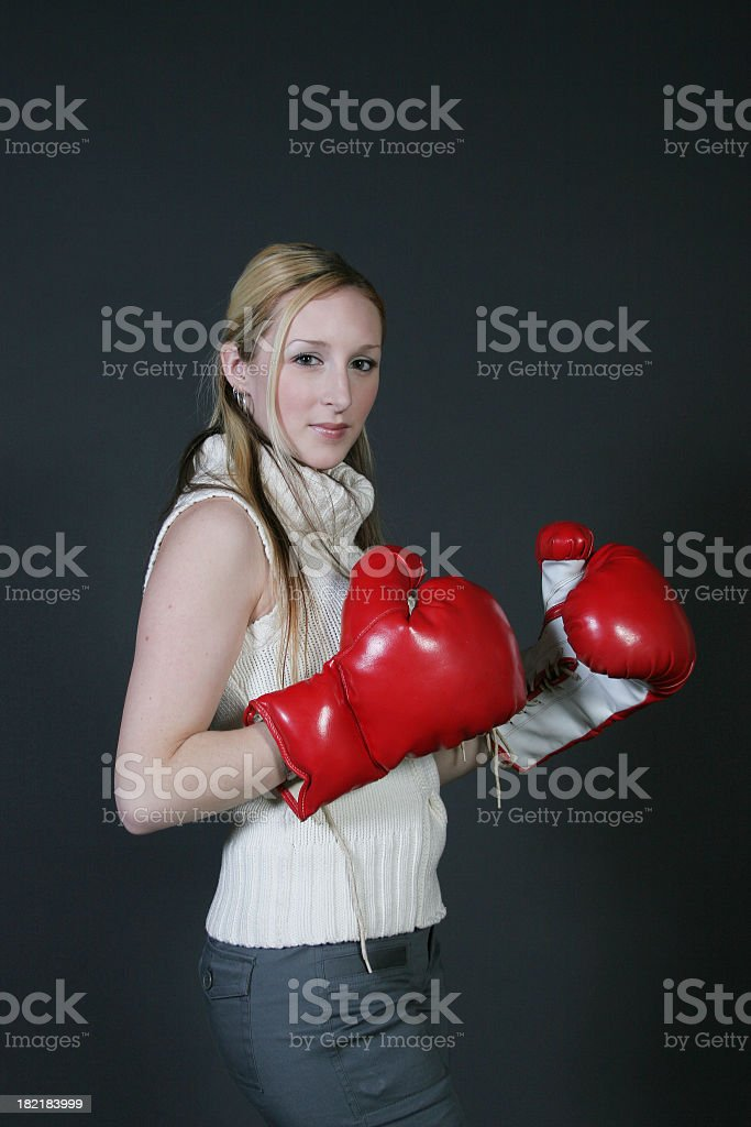 Ready to punch royalty-free stock photo