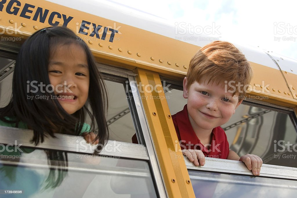 Ready to Ride the Bus royalty-free stock photo