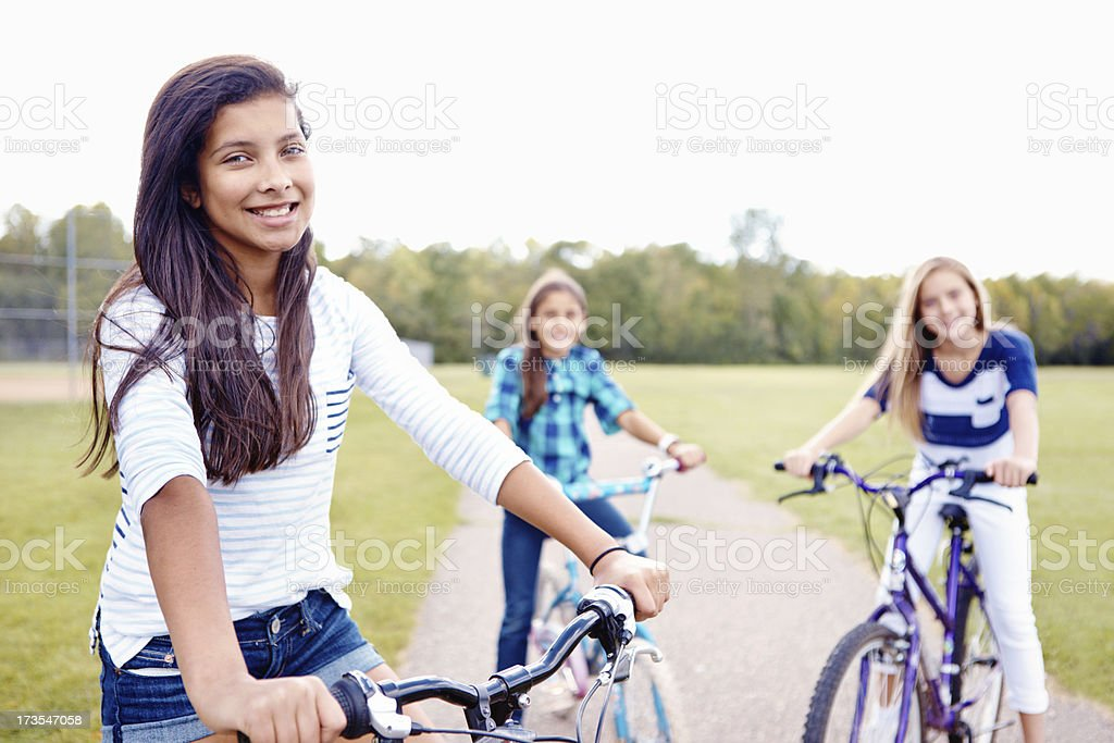 Ready to ride the day away royalty-free stock photo