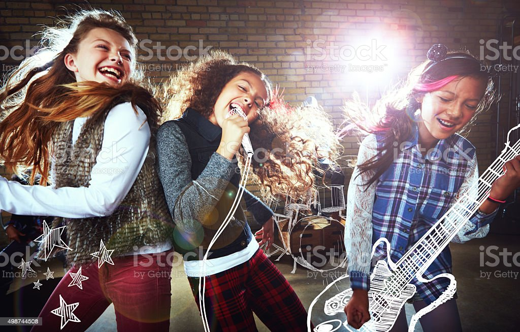 Ready to rock! stock photo
