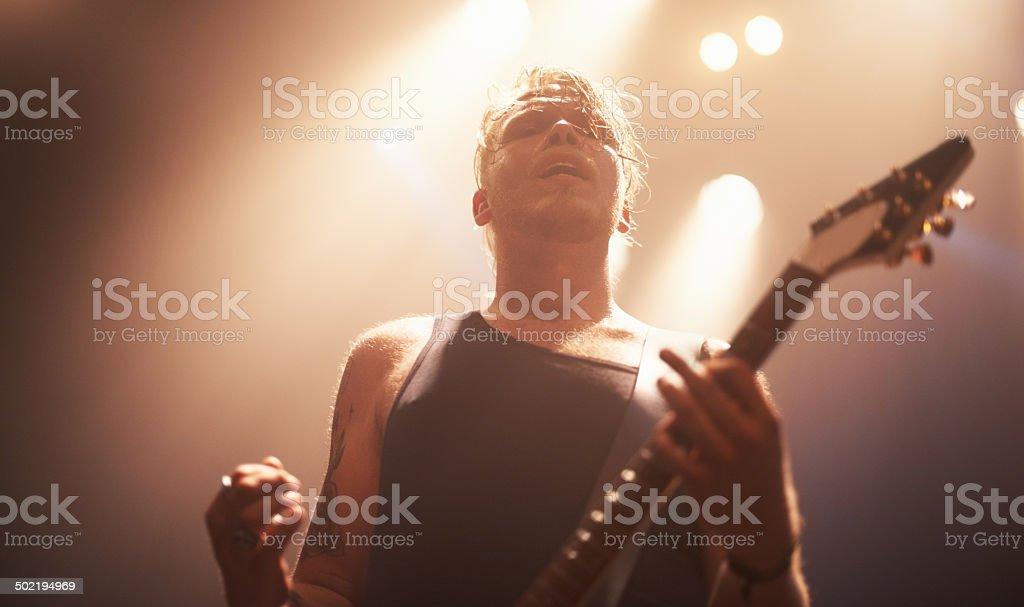 Ready to rock royalty-free stock photo