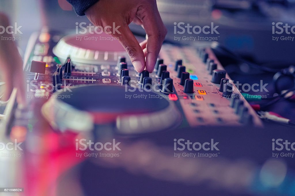 Ready to rock some party beats stock photo
