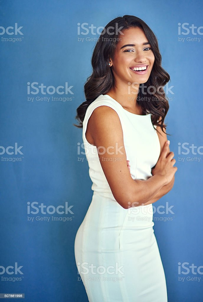 Ready to rock this working day stock photo