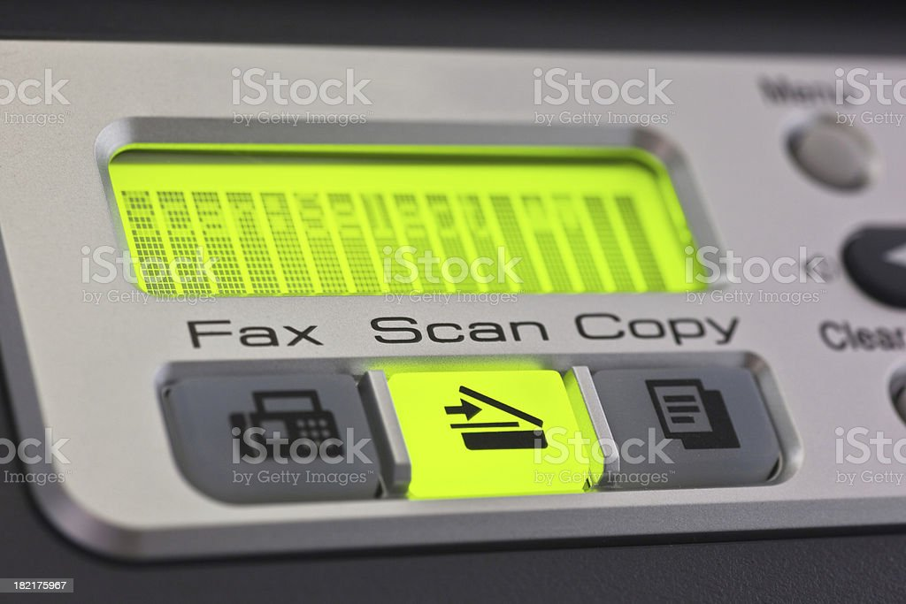 Ready to Scan stock photo
