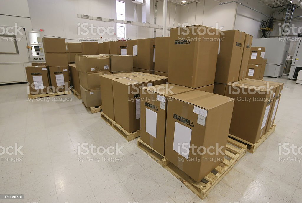Ready to Ship Cardboard Boxes royalty-free stock photo