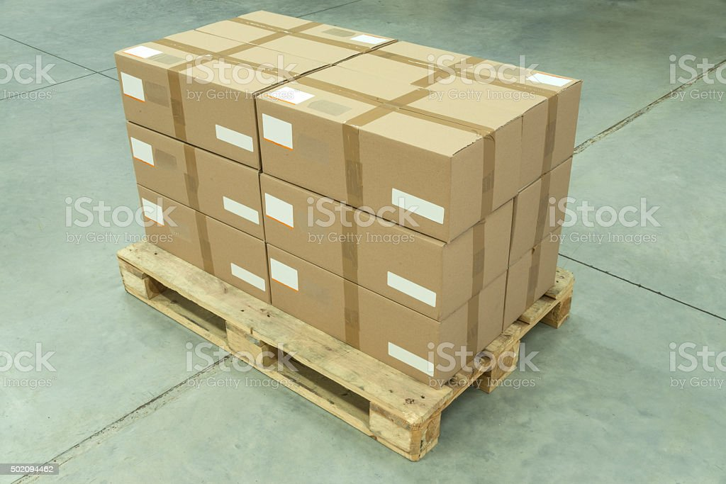 Ready to Ship Cardboard Boxes stock photo
