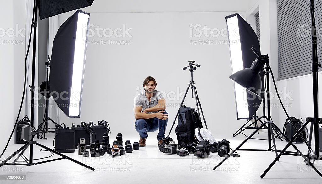 Ready to shoot! stock photo
