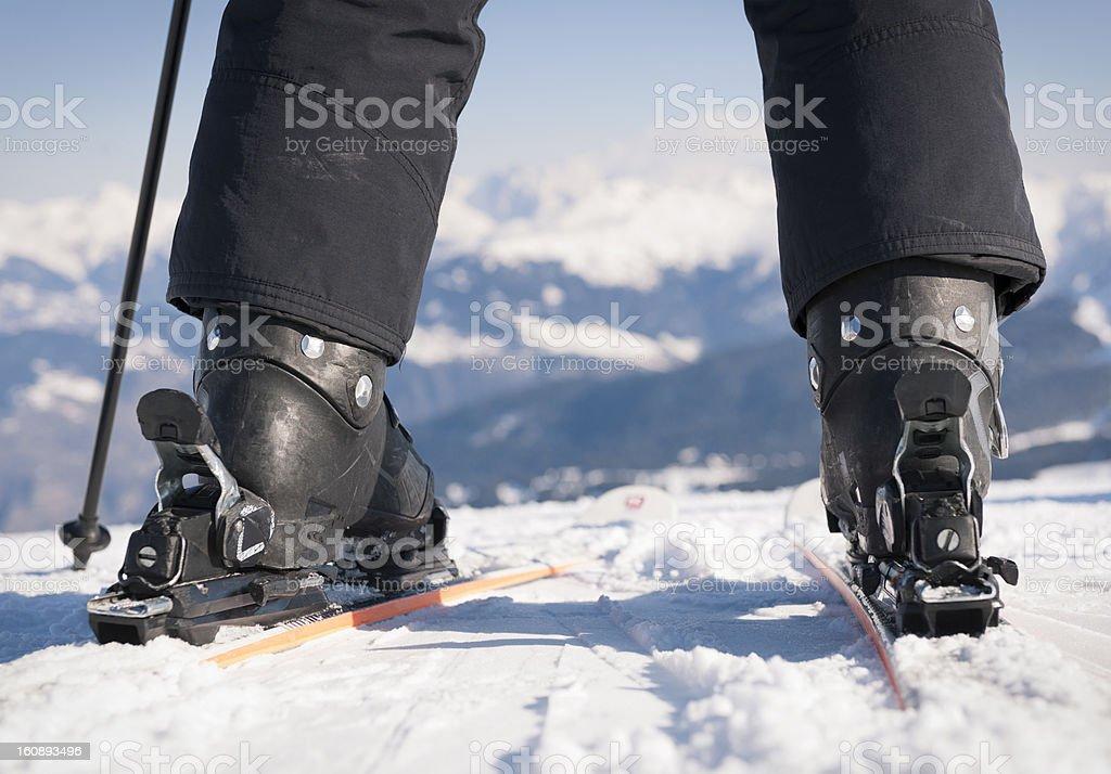 Ready To Ski stock photo