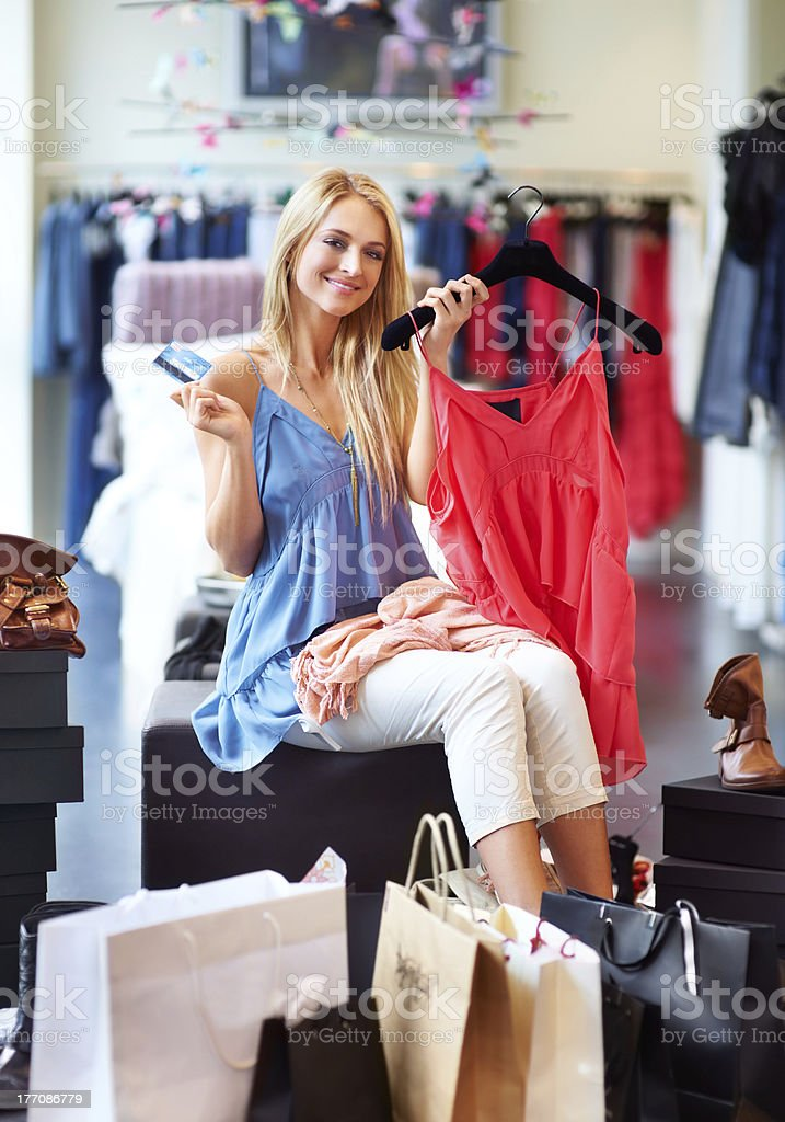 Ready to spend some money royalty-free stock photo