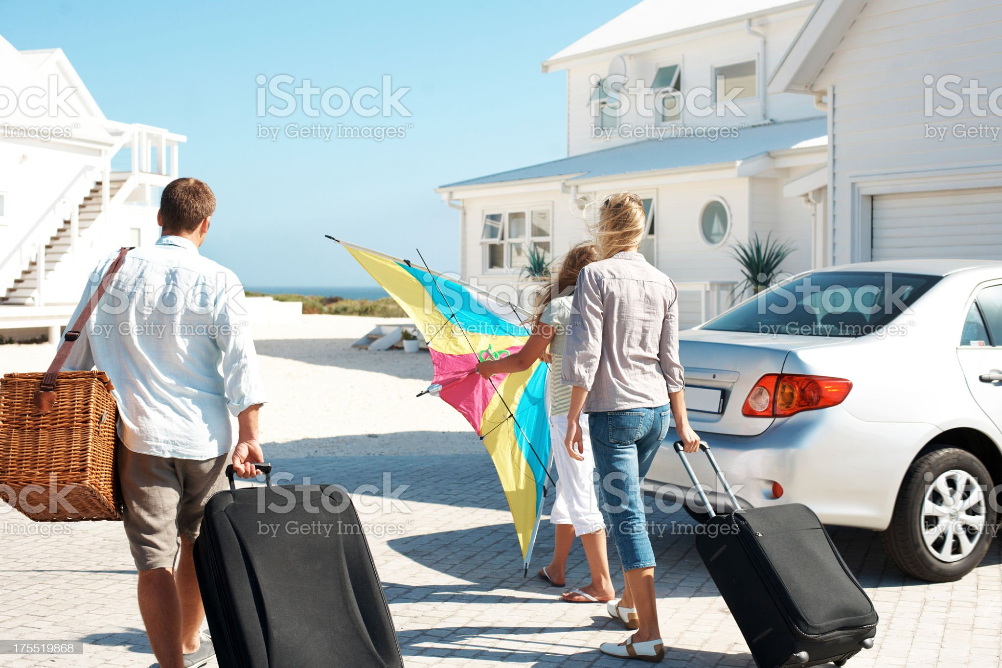 Ready to start their family vacation royalty-free stock photo