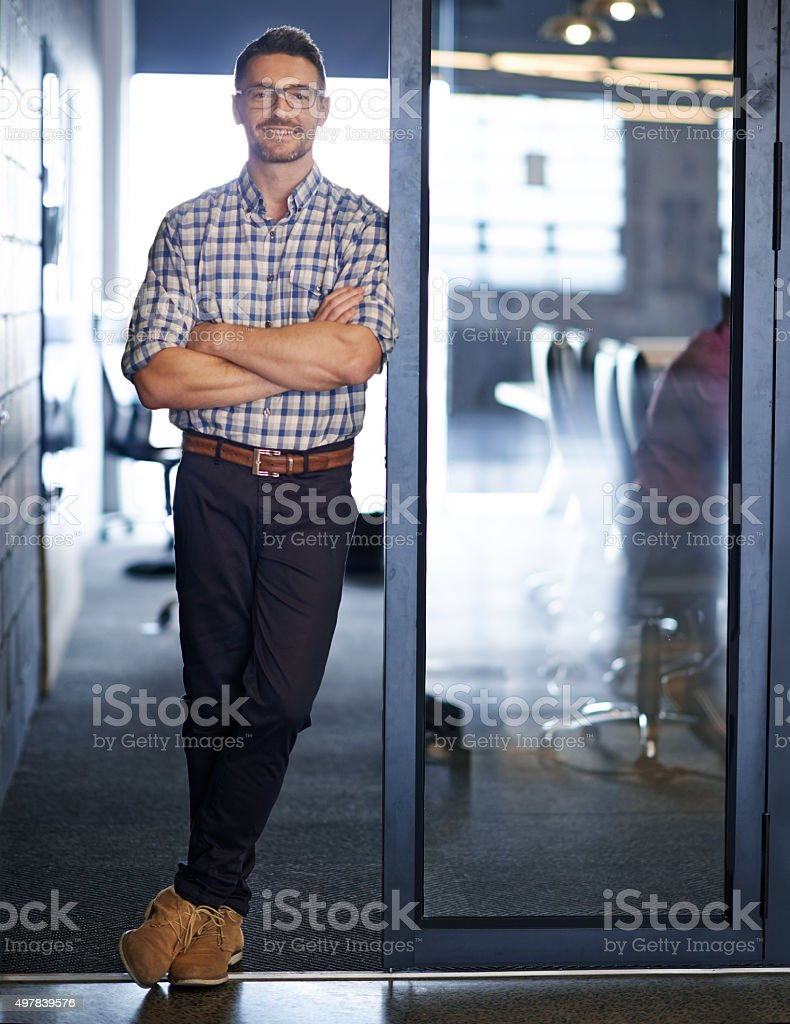Ready to tackle the workday stock photo