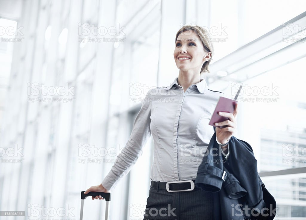 Ready to take my business skills international stock photo