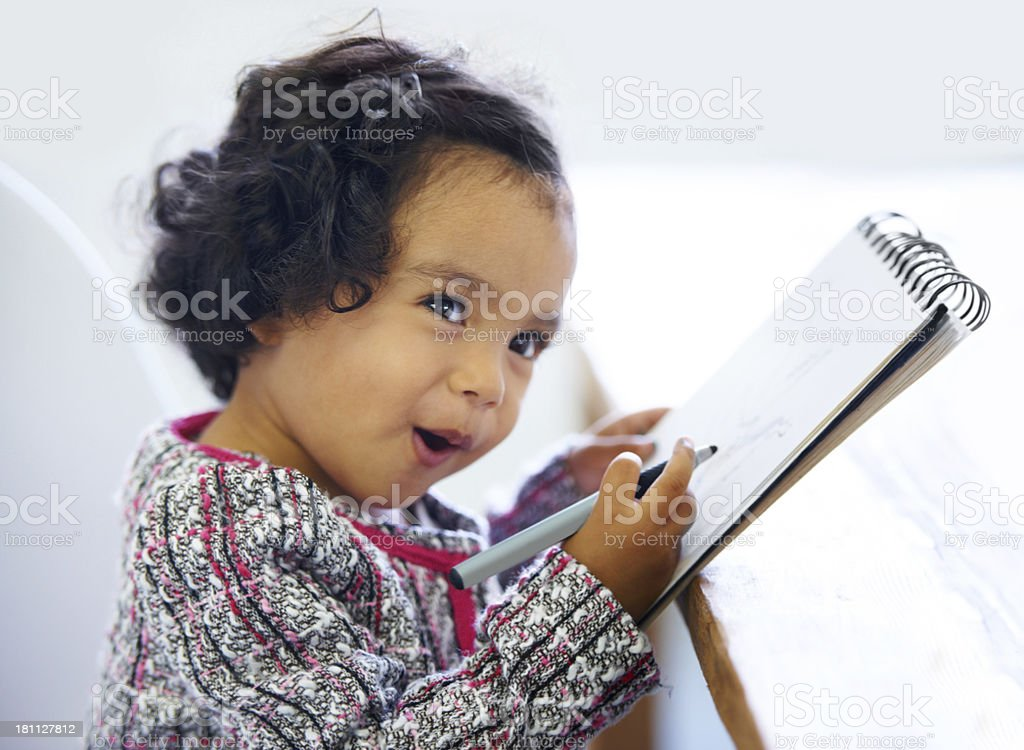 Ready to take notes stock photo