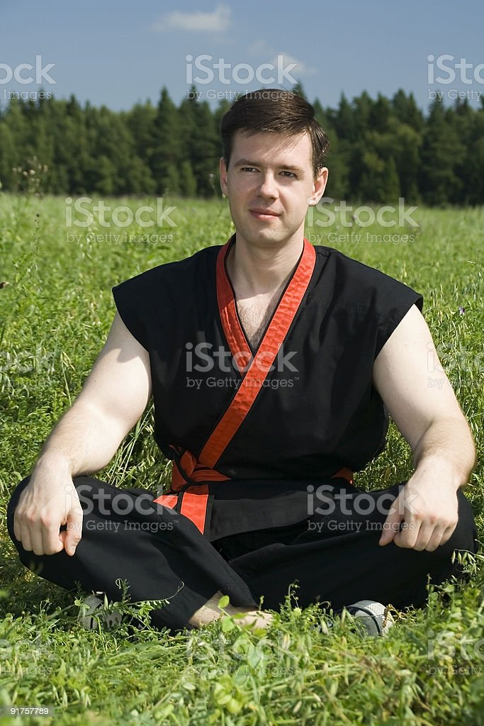 Ready to the battle royalty-free stock photo