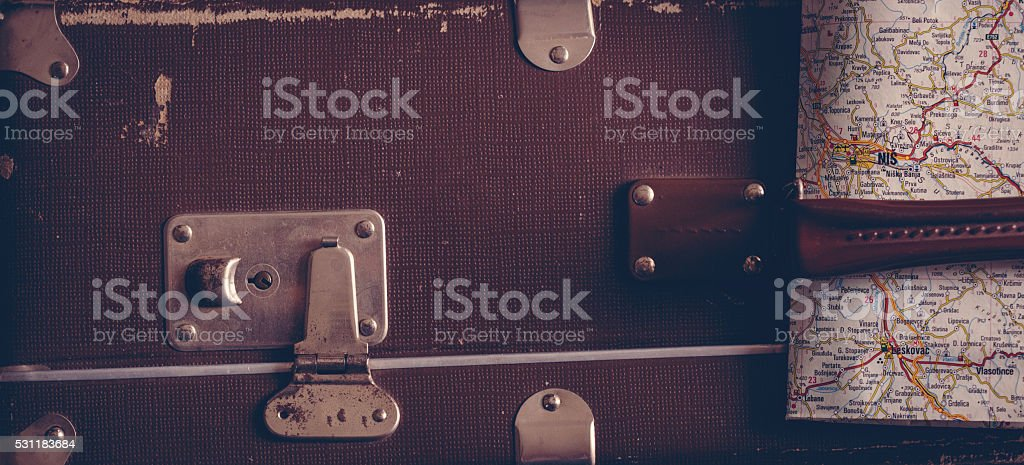 Ready to travel stock photo