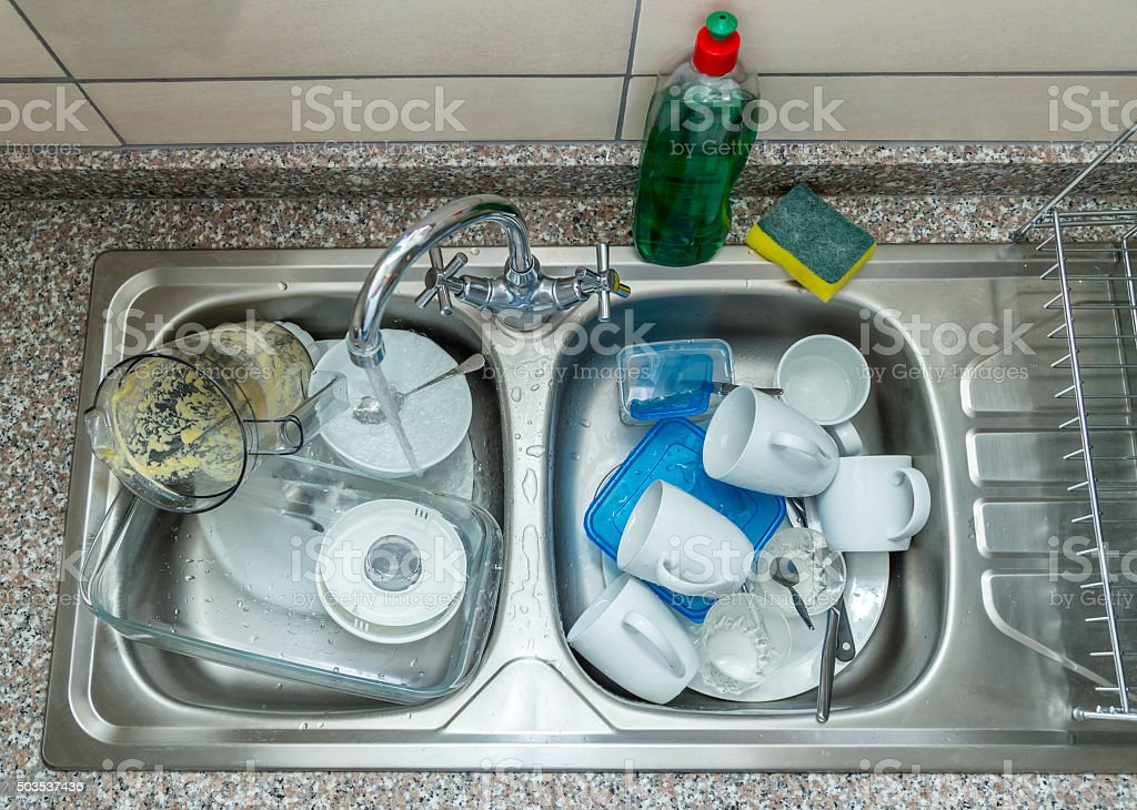 Ready to wash up stock photo