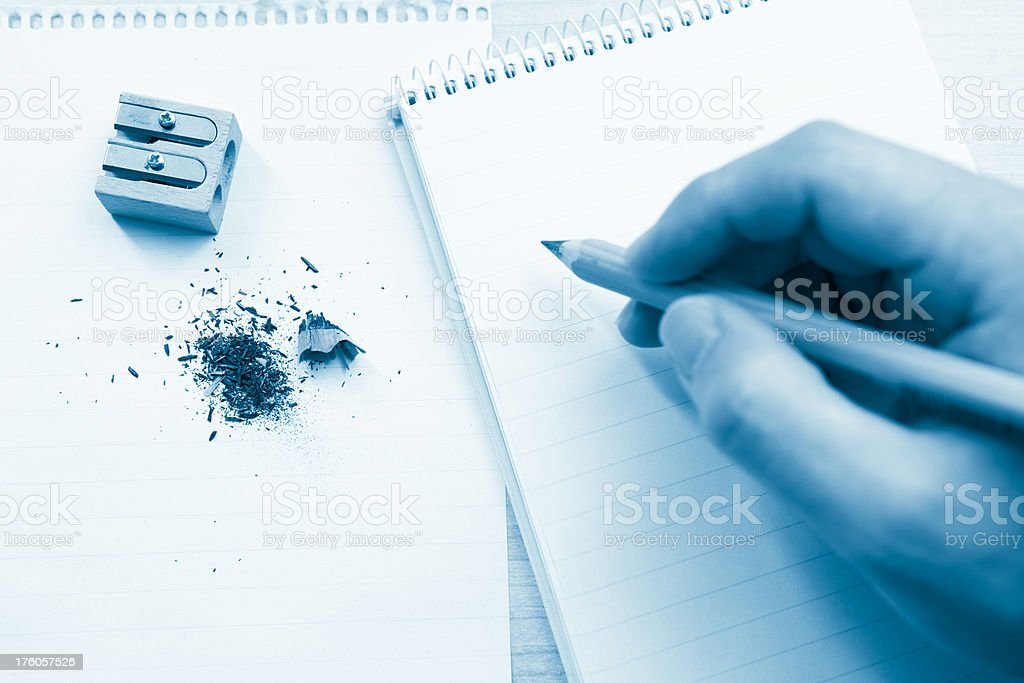 Ready to write on a Notepad stock photo