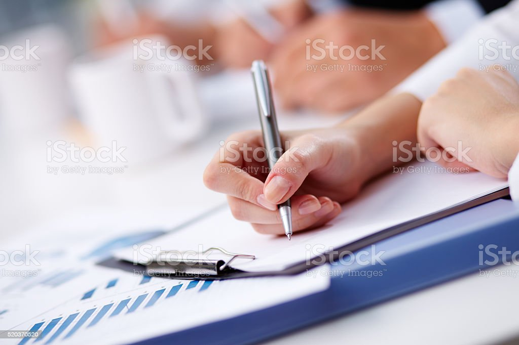 Ready to write stock photo