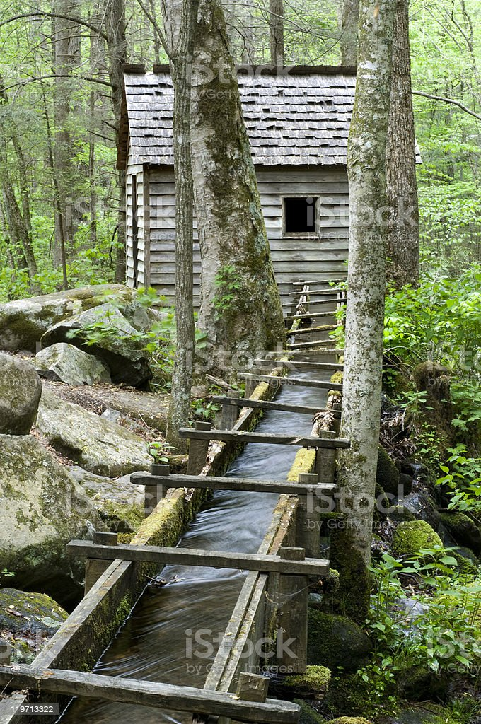 Reagan Mill, Great Smoky Mountains National Park stock photo