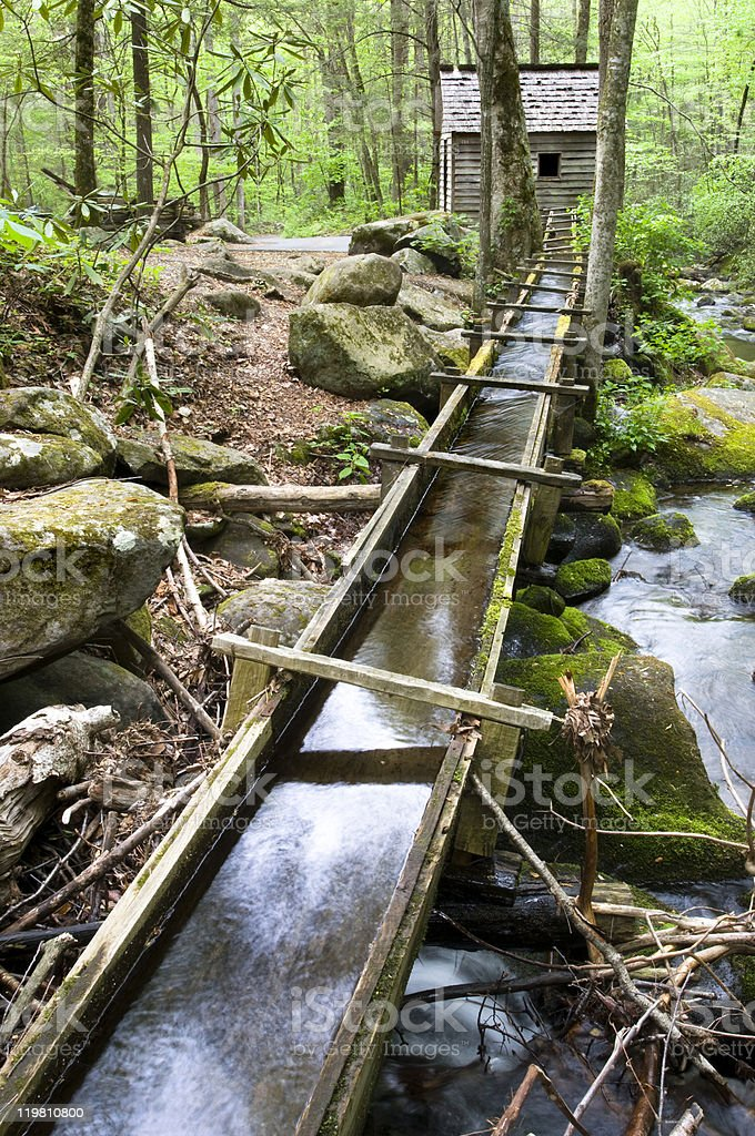Reagan Mill, smoky mountains stock photo