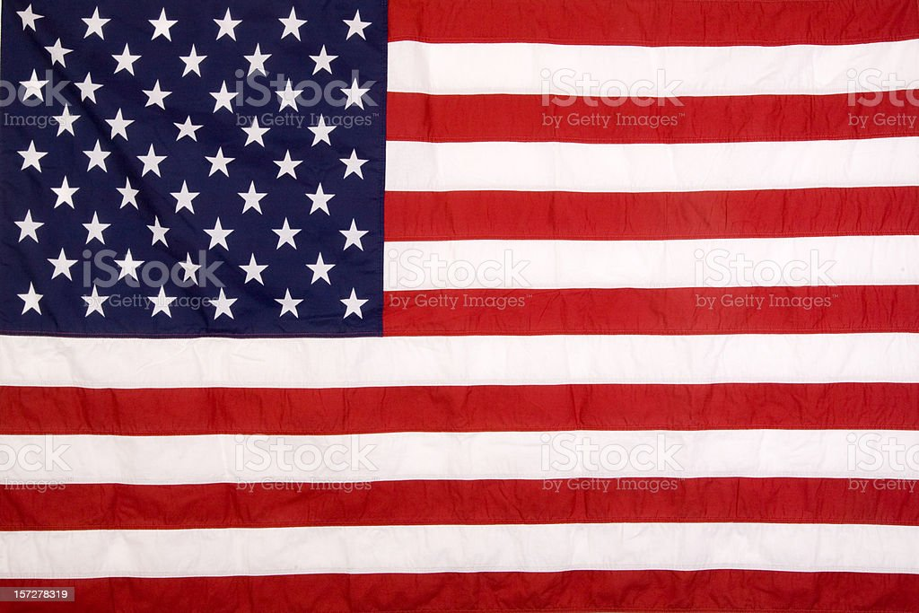 Real American Flag royalty-free stock photo
