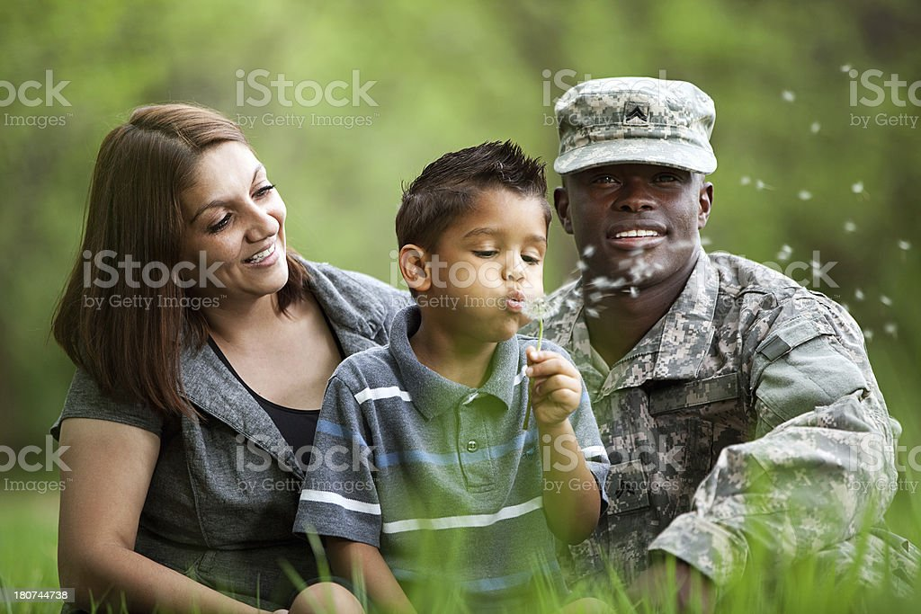 Real American Military Family royalty-free stock photo
