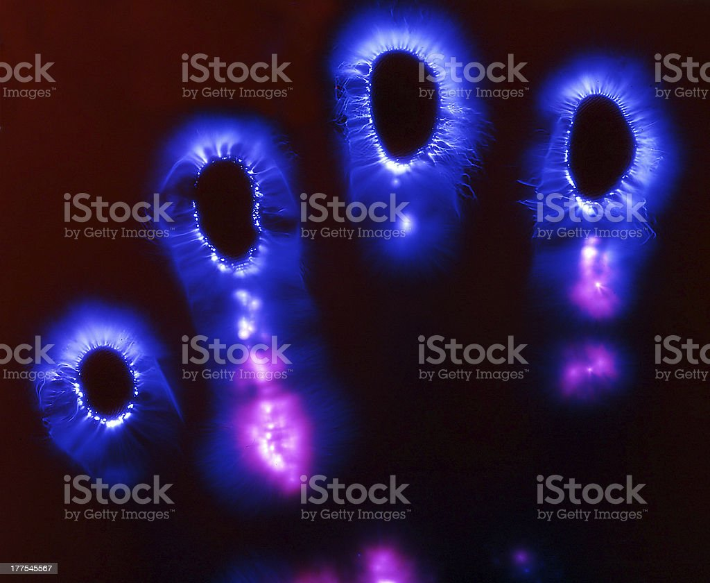 real aura of left hand stock photo