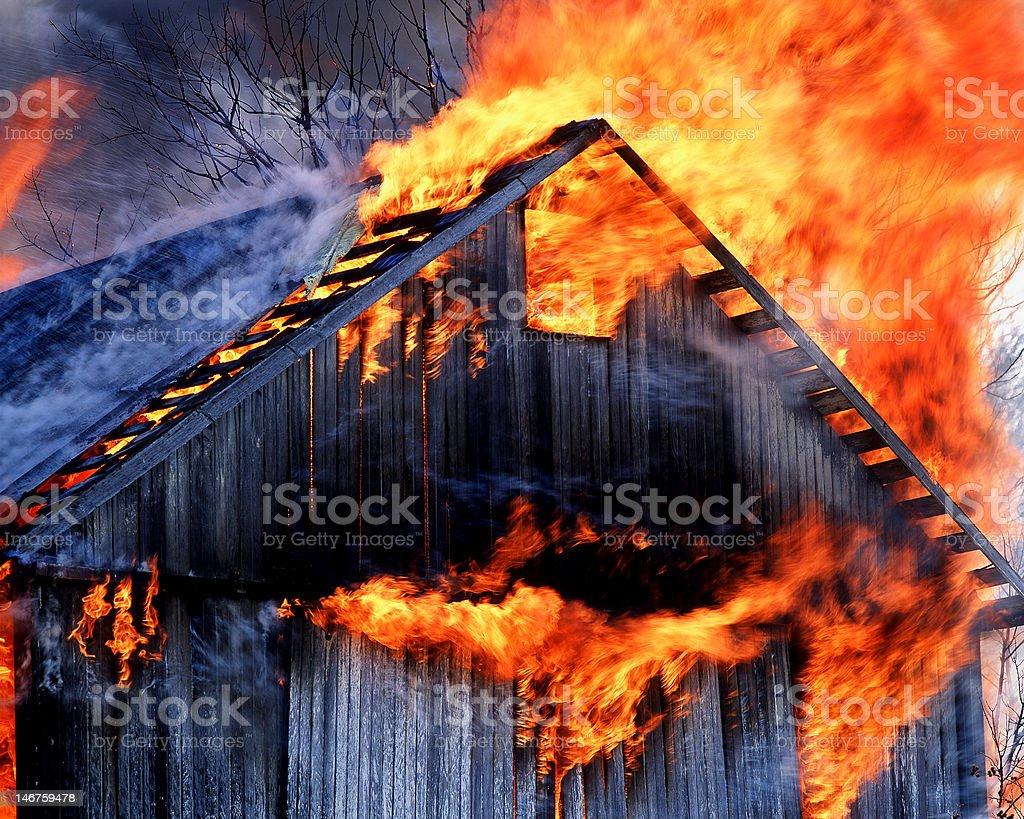 Real Barn Burner. royalty-free stock photo
