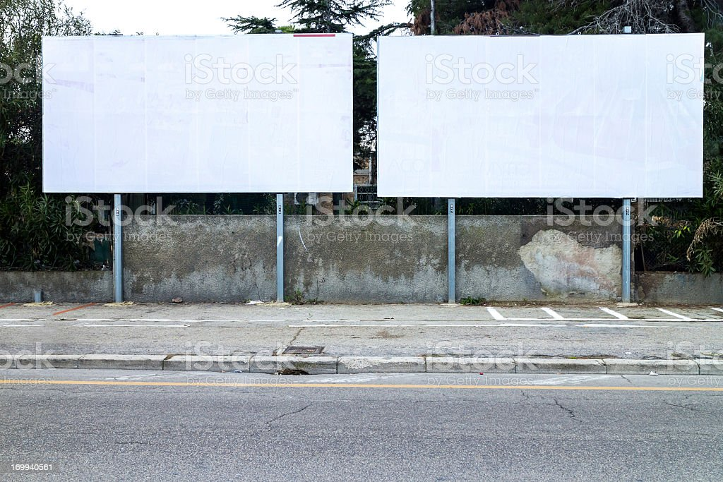 Real blank billboard royalty-free stock photo